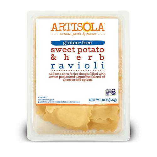 Gluten-Free Sweet Potato & Herbs Ravioli