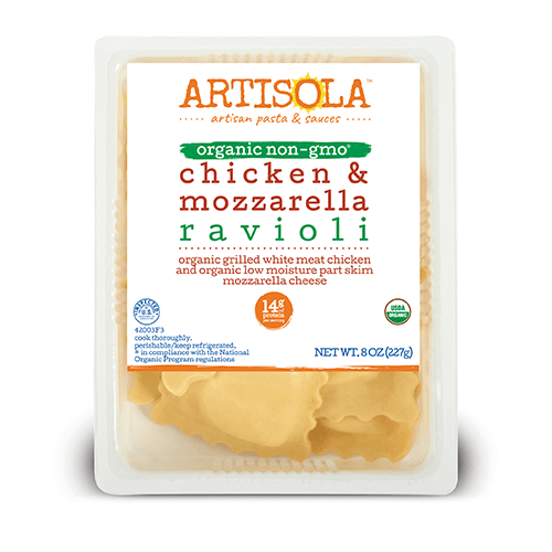 Organic Chicken & Mozzarella Ravioli