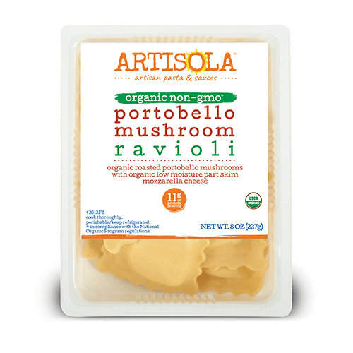 Organic Portobello Mushroom Ravioli