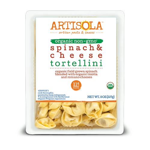 Organic Spinach & Cheese Tortellini